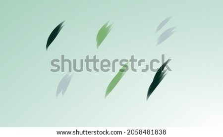 Green herbal abstract background with elegant green strokes. The concept of choosing colours colors. Simple aesthetic. Minimal wallpaper.