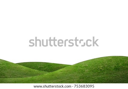 green hill of grass field...