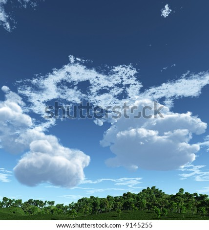 ... beautiful spring landscape photo vector field material png frame psd