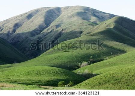 Green hills at Kazakhstan