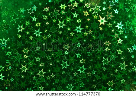 Green holographic paper texture. Christmas background