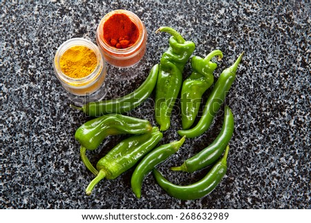green hot pepper & seasoning