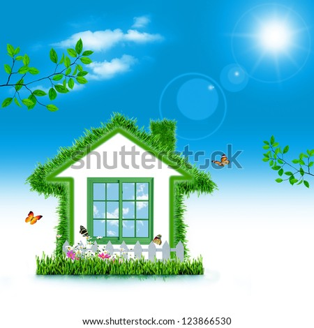 Green House. Abstract eco backgrounds for your design