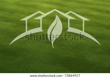 Green House With Leaf Ghosted
