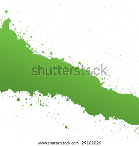 Green Ink Splash - stock photo