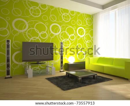 Green interior design stock photo shutterstock