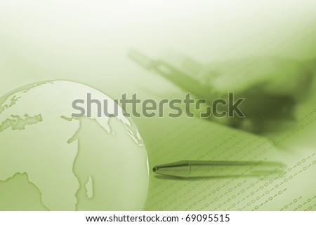 green internet business concept