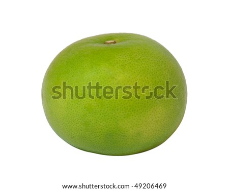 Green juicy grapefruit isolated on a white background