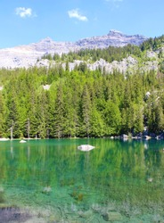 Green Lake (Lac Vert) in the Chamonix valley