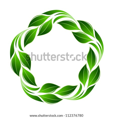 Green leaf flower