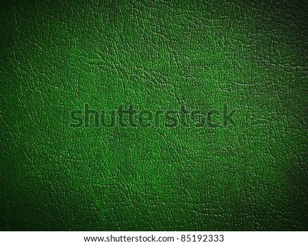 Green leather background or texture