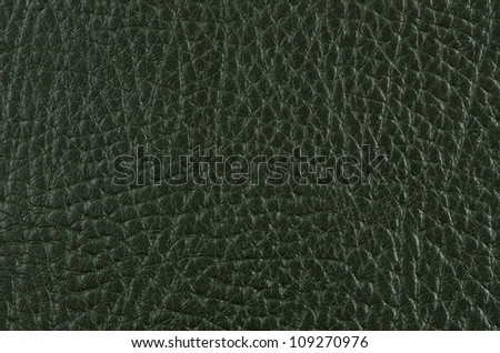 Green leather texture closeup detailed background.