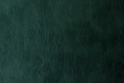 Green Leather Texture Or Background.