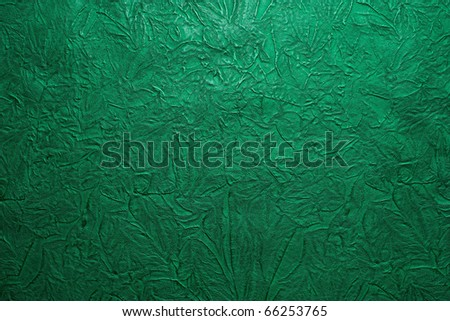 green leather tooled texture
