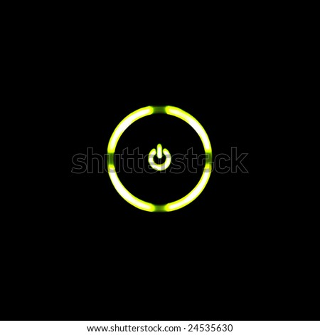 Green LED Power Button for Electronics