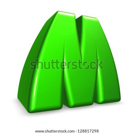 Green Letter m Logo Green Letter m on White