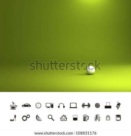 Green light background