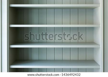 Green light color of Wooden book Shelf #1436492432
