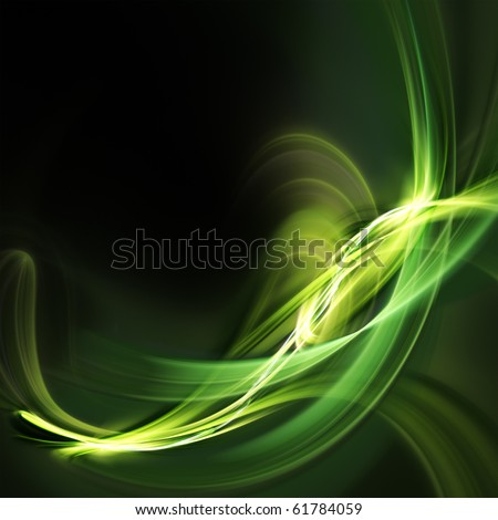 Green light forms on dark background