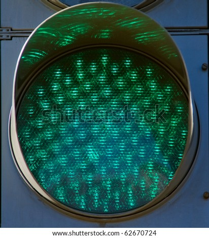 Green light of a traffic light