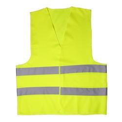 Green light vest isolated on white background