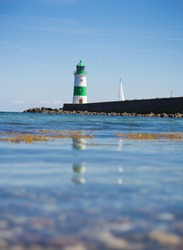 Green Lighthouse on the peer