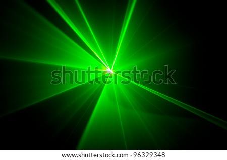 green lights beam