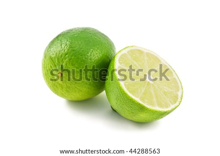 green lime isolated on white