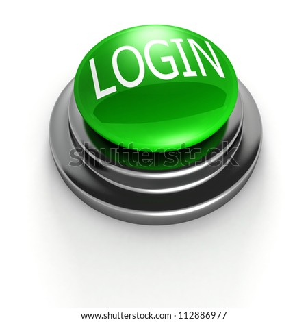 green login button on white background