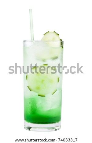 Green long drink chilled