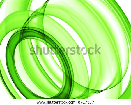 green loops - abstract background for your project