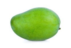 Green mango isolate on white background