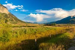 Green meadows in Southern Colorado, Crested Butte, Colorado, USA
