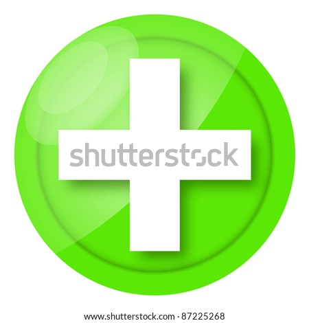 Green medical icon isolated on white background