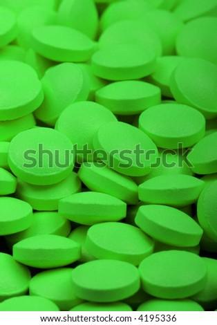 Green medical pills