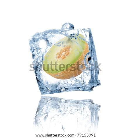 Green Melon Frozen In Ice Cube Stock Photo 79155991 : Shutterstock