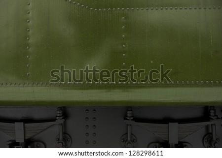 Green Metal Background ( Steam Locomotive Element ).