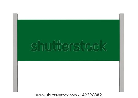 Blank Road Sign Board Green Metal Road Sign Board