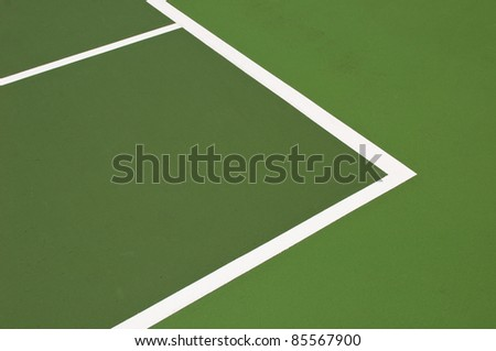 green modern hardcourt tennis as a background or texture