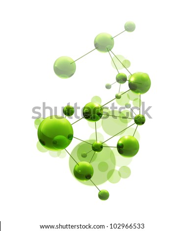 Green molecule, bitmap copy
