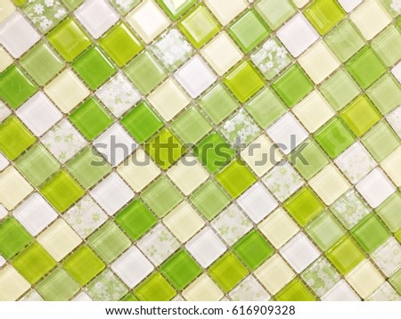 green mosaic tiles,green tiles,mosaic tiles , wall tiles ,floor tile #616909328