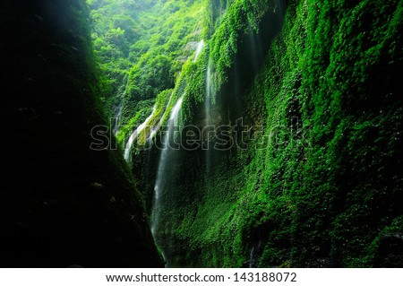 Green Mossy Waterfalls