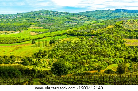 Green mountain hill valley landscape. Mountain hill valley view. Mountain green hill valley landscape. Mountain valley landscape