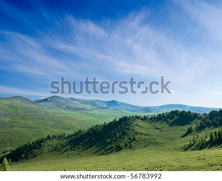 green mountain landscape