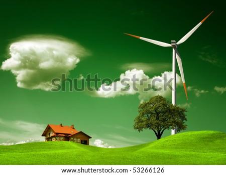 Green natural environment - stock photo