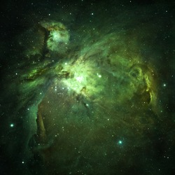 Green Nebula - Elements of this Image Furnished by NASA