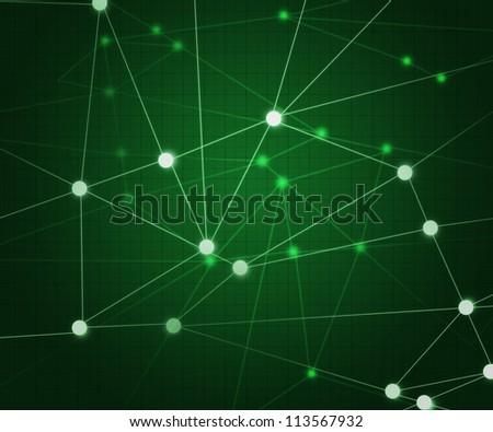Green Network Background