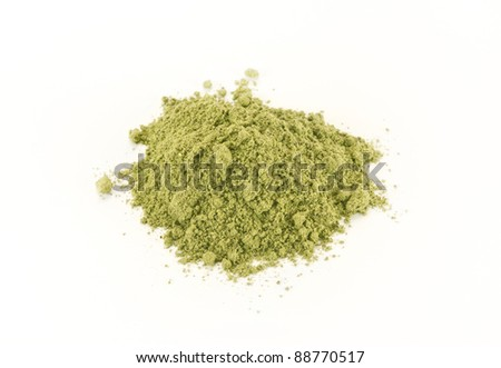 green nutrition food powder