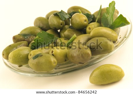 Green olives from Lucques