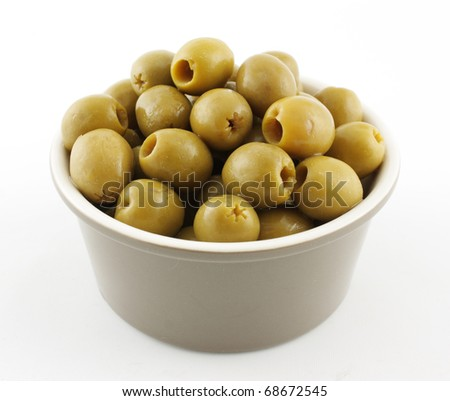 Green Olives in bowl